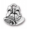 Christmas Christmas Bells Charm Antique Silver